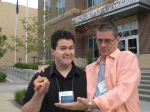 David Powers King and me admiring a donut